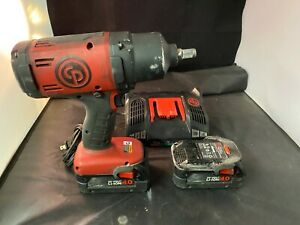 Chicago Pneumatic 1 2 Drive 20v Cordless Impact Wrench Kit Cp8848 W charger
