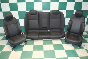 08 09 G8 Black Leather Driver Passenger Power Buckets Rear Bench Seats Set Oem