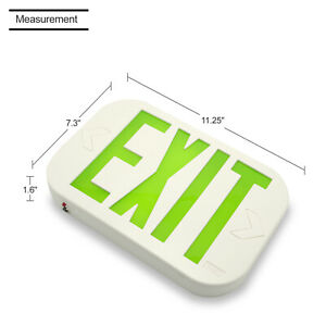 2pack Emergency Lights Green Exit Sign Lighting With Led Lamp Led Green Exit Smd