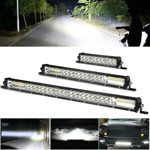 7 13 20 Ultra Slim Led Light Bar Dual Row Spot Flood Combo Fog Off Road New