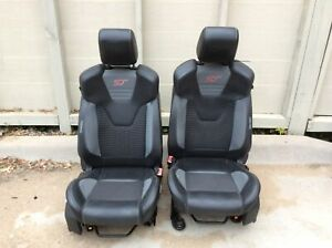 13 14 Ford Focus St Recaro Black Leather Cloth Manual Front Seats Oem Lkq