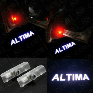 2x Led Door Courtesy Projector Shadow Logo Lights For Nissan Altima 2005 2019