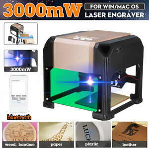 Bluetooth 3000mw Desktop Laser Engraving Machine Support Mobile Phone