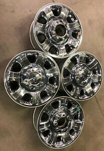 3892 Set Of 20 Inch Ford F250 F350 Oem 8 Lug Chrome Clad Wheels Rims F 250