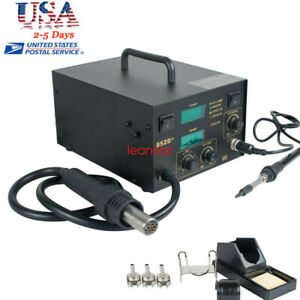 Usa Hot Air Solder Rework Station Welder Heat Gun Soldering Iron Welding Machine
