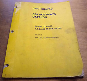 New Holland 277 Hay Baler Parts Manual Catalog Nh
