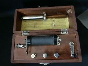 Original Antique Dr Woodbury S Medical Battery Treatment Box Shock Box Ca 1870