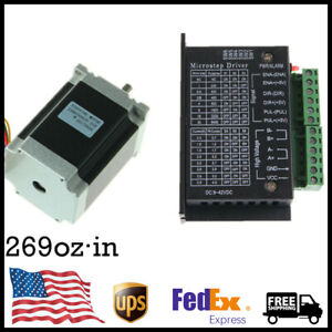 Nema 23 Stepper Motor 269oz in 1 9n m 3 6v 3a With Driver Tb6600 Set Us Stock