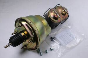 7 Zinc Dual Power Brake Booster W 1 Bore Bail Top Master Cylinder Street Road