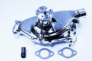 Big Block Chevy 454 High Volume Chromed Aluminum Short Water Pump Swp Bbc 454