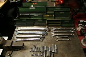 S K Socket Wrench Lot U S A Tools Metal Boxes