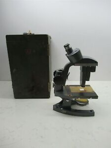 Vintage Bausch Lomb Binocular Stereo Zoom Microscope With Case 1x 3x 7 5x