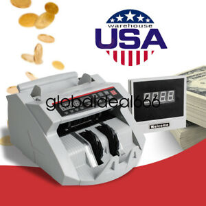 Automatic Bill Cash Counterfeit Detector Uv Currency Band Machine Us Shipment