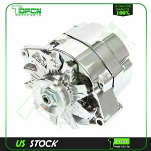 New Alternator 110a Chrome Street Rod Gm High Output 1 Wire 21 7127 Se105c