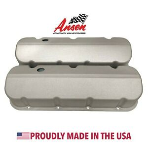 Big Block Chevy Valve Covers Die cast Aluminum As Cast Finish Ansen Usa