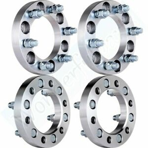 4x 1 6x5 5 To 6x5 5 14x1 5 Wheel Spacers For 1999 2014 Chevy Silverado 1500