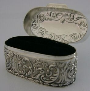 Beautiful English Solid Silver Ring Box 2007 2 25 Inch Marriage Proposal