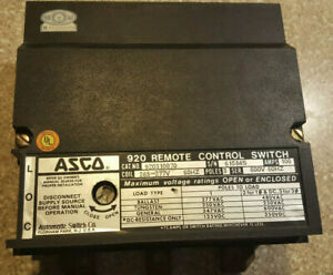 Lighting Control Asco 920 Remote Control Switch Cat 920310070