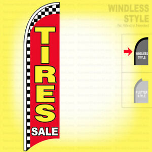 Tires Sale Windless Swooper Flag 11 5 Ft Feather Banner Sign Rb