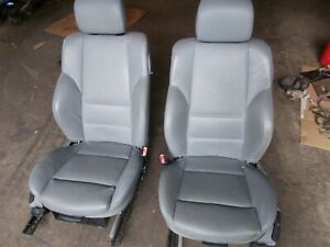 Bmw 325 Ci 2dr Grey Leather Front Bucket Seats 01 02 03 04 Oem E46 Coupe Rh Lh