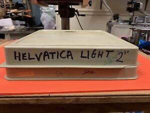 New Hermes Engraving Letters Helvatica Light 2 Box No 30 862 00