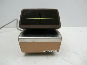 Amano 4746 Time Recorder Automatic Time And Date Stamp Vintage Office Device