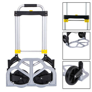 330 Lbs Portable Cart Folding Dolly Hand Truck Push Collapsible Trolley Luggage