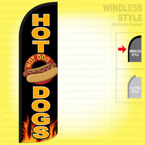 Hot Dogs Windless Swooper Flag 3x11 5 Ft Feather Banner Sign Kq