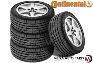 4 Continental Contiprocontact P215 45r17 87h All Season Tires 60k Mile Warranty