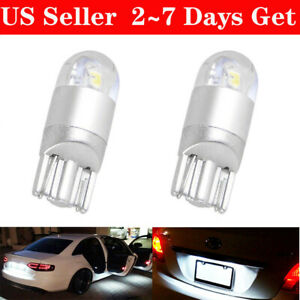 2x Super White T10 3030 2smd Led High Power Interior Light Bulb W5w 194 168 2825