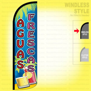 Aguas Frescas Windless Swooper Flag 3x11 5 Ft Feather Banner Sign Qfrs