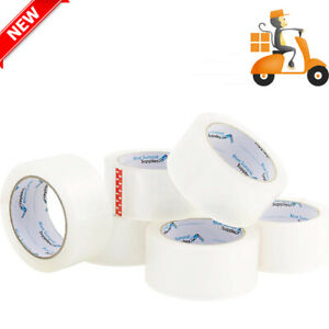 12 Pack Heavy Duty Packaging Tape Commercial Grade 2 7mil Thick 60 Yard Length