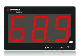 Sndway Sw 525a Digital Sound Level Meter 30 130db Large Screen Display Lcd