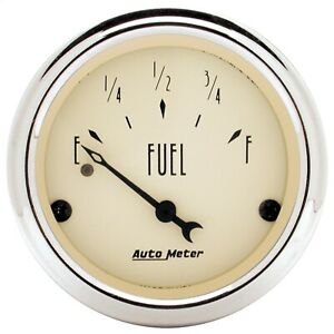 Autometer 1818 Antique Beige Fuel Level Gauge