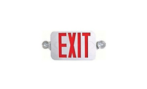 Lighting All Led Decorative Red Exit Sign Emergency Combo With Battery Backup