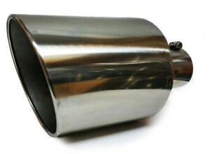 Bolt On Diesel Exhaust Tip 5 Inlet 10 Outlet 18 Long Polish Stainless Steel