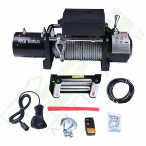 12v Off road Electric Winch 10000lbs Pull W 80ft Cable For Jeep Truck Suv Car
