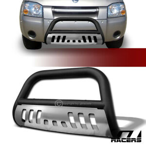 For 2001 2004 Nissan Frontier Matte Blk Bull Bar Brush Bumper Grille Guard Skid
