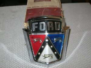 Nos 1950 1951 Ford Radiator Grill Ornament And Chrome Housing
