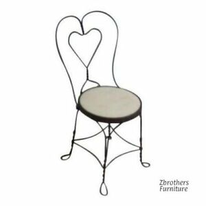 Antique Twist Iron Ice Cream Parlor Saloon Side Chair