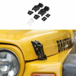 Aluminum Hood Latches Catch Cover Kit For Jeep Wrangler Tj Accessories 1997 2006