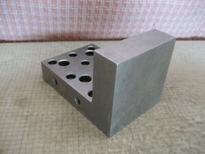 Vintage Angle Plate Block 4 x4 x6 Precision Machinist Tool 11 Lbs 914x