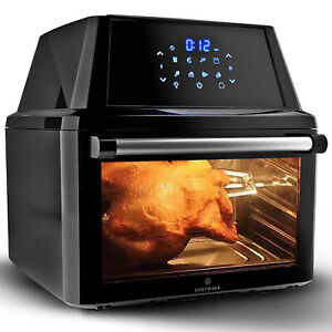 ChefWave Magma 16 Quart Air Fryer Oven Rotisserie Dehydrator and Accessories $139.95