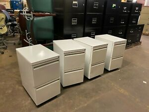 Mobile File file Pedestal By Haworth Office Furniture In White W Lock