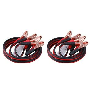2 Pack 12 Feet 10 Gauge Booster Jumper Cable Emergency Car Battery Start 150amp