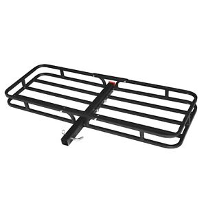 500 Lb Capacity Steel Cargo Carrier Hitch Receiver Mount Luggage Large Loads