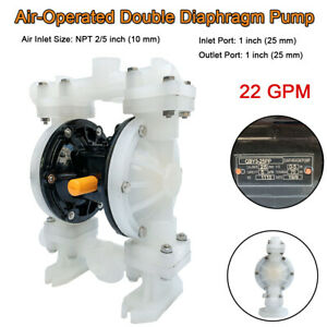 1 Air operated Double Diaphragm Pump 22gpm 100psi Fits For Strong Acids