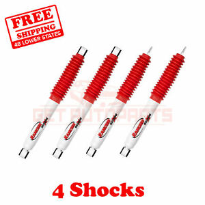 Kit Of 4 Rancho 1 2 Lift Front Rear Rs5000x Shocks For Dodge Ram 1500 4wd 02 05