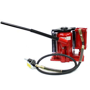 20 Ton Heavy Duty Low Profile Manual Air Hydraulic Bottle Jack 40 000lb Truck Rv