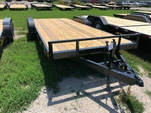 2021 18 2 Hd Flatbed With 2 Dovetail Trailer